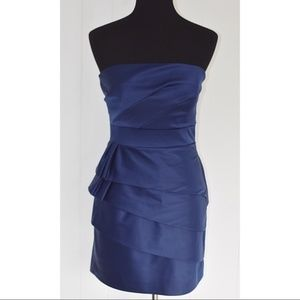 Max & Cleo blue tiered cocktail dress